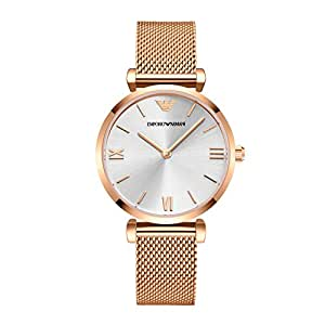 ARMANI 阿玛尼 意大利品牌 时尚腕表防水石英女士手表玫瑰金 AR1956