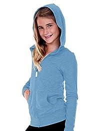 Kavio Big Girls 7-16 Jersey Long Sleeve Zip Up Hoodie
