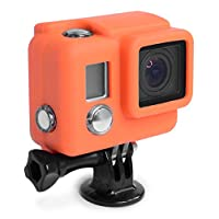 XSories SLCV3A003 Silicone Cover for GoPro HERO3+ and HERO4 Camera Housings (Orange)