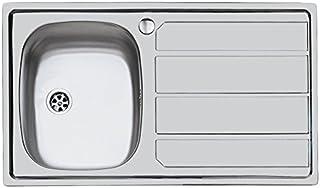 Idro Bric u81021 SX1 水槽不锈钢底托 1 碗 左侧带排水器 79 x 50 cm