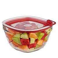 Rubbermaid 乐柏美 玻璃保鲜盒2.7L 10Y0 (红色) (美国原装进口)
