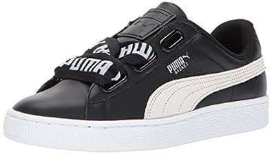 PUMA 彪马 女式 篮心形运动鞋 Puma Black-puma White 7 B(M) US