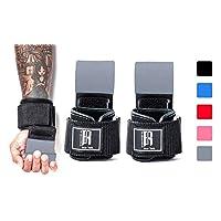 RIMSports 举重挂钩 重型 - 拉举式腕带 - 举重拉力带 - 举重手柄 - 带衬垫锻炼带用于举重 - 理想健身手套