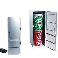 DE帝蓝浦 冷热两用USB小冰箱 mini冰箱 迷你USB冰箱 迷你冰箱 灰色