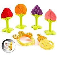 婴儿出牙玩具(6 只装)可冷冻,不含 BPA,婴幼儿硅胶牙胶,舒缓宝宝牙龈,完美的婴儿送礼礼物