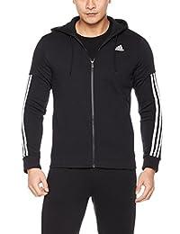 adidas 阿迪达斯 男式 运动型格 针织夹克 BR4074 黑/白 COMM M  FZ FL