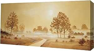 "PrintArt GW-POD-63-MLV179-36x18 ""Misty landscape II"" Frans Nauts 画廊装裱艺术微喷油画艺术印刷品 24"" x 12"" GW-POD-63-MLV179-24x12"