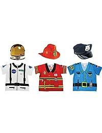 Aeromax 我的*款职业装备 宇航员、消防员和警察衬衫(6 件套装)