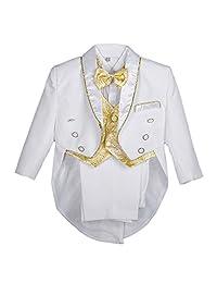 Lito Angels 男婴提花经典燕尾服正装婚礼套装 5 件套 015