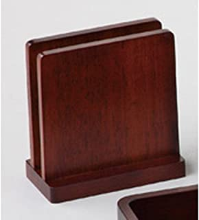 木制菜单架 棕色 [ 约10 x 5 x H10.5cm ] 【 木制桌面小物件 】 【 日式餐具 餐饮店 业务用 】