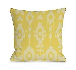 Bentin Home Decor Forever Ikat 户外枕头 Forever Ikat - Lemon Zest 18x18 Pillow 12186PL18