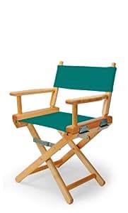 伸缩式休闲儿童导演椅,青色带清漆框架
