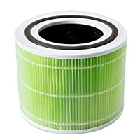 LEVOIT Core 300 空氣凈化器替換濾芯,3 合 1 預過濾器,真正 HEPA 過濾器,*激活碳過濾器,核心 300 射頻 * Mold Bacteria Core 300-RF-MB