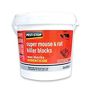 pest-stop 超级鼠标和老鼠 Killer WAX 积木 (24x 20g)