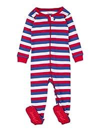 Leveret 条纹婴儿女童连脚睡衣睡衣 * 纯棉 幼儿 睡衣(0 个月-5 幼儿)