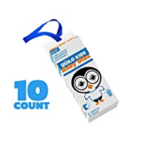 Q?ILO 儿童长袖可生物降解围嘴,10 只装 �C 防水塑料围嘴,适合婴儿和幼儿,6 个月及以上宝宝 �C 这款婴儿围嘴可保护衣服免受食物和污渍 白色/蓝色