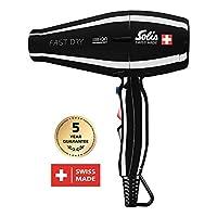 Solis Profi 吹風機 , 3溫度 - 和吹風機等級 , 冷風 - 按鈕 , AC - 發動機 , 2200瓦 , 負離子 - 技術 , Fast Dry ( 類型381 ) 黑色