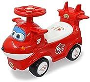 Jamara 460653 滑轨 Super Wings Jett - 座椅下方的后备箱,可折叠,推动和握把,各种声音,翻转保护,红色