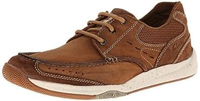 Clarks 男士休闲鞋 Allston Edge系列 休闲皮鞋 褐色 9 D(M) US