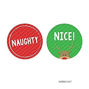 Andaz Press 圣诞节系列,礼品标签贴纸 LABEL NAUGHTY OR NICE AP58254