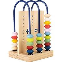 小算术蝴蝶结 Educate 带彩色木珠,计算推器,学习玩具数学非常适合出行,迷你计算框,适合4岁以上儿童。 Kind FSC Holz 多色