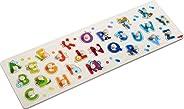 HABA 303188 – 抓地拼图我的*批 ABC 字母木质拼图 带字母和有趣的动物主题 拼图拼图,带有 26 个小提琴 2 岁以上的木玩具
