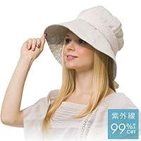 Goodsman Kate Ruber Hollywood UV Cas帽子 米白色