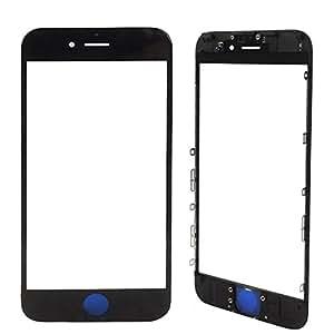 MMOBIEL iPhone 6 Plus 前玻璃替换件,包括 预装边框+耳机网状iPhone 6 Plus A1522 A1524 A1593 黑色