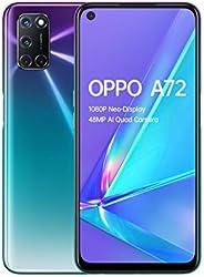 OPPO A72 - 4GB + 128GB Snapdragon 665 6.5 英寸 5000 毫安双卡 48 MP 摄像头 Sim Free 安卓 10 智能手机OPPO A72  紫色