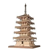 WoodyJOE 1/75 法隆寺 五重塔 木制模型 组装套件