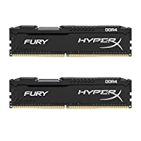 Kingston 金士頓 Technology HyperX FURY 2400MHz DDR4內存 Non-ECC CL15 DIMM 8 DDR4 2400 MT/s(PC4-19200)HX424C15FBK2 / 8
