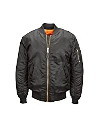 Alpha Industries 男士 Ma-1 Bomber Blood Chit Flight Jacket