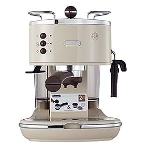 De'Longhi 德龙 Icona Vintage 复古早餐系列 ECO310.VBG 泵压式半自动咖啡机(水箱容积 1.4L) 奶油白色 1100W (海外自营)(国内官方联保两年)(包邮包税)