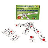 """Learning Advantage 4080The Original Fraction Dominoes 游戏 , Grade : 3to , Height , 1.5"""" Width , 4"""" Length"""