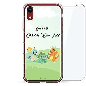 豪华设计师,3D 印花,时尚,气袋垫,360 玻璃保护膜套装手机壳 iPhone XR - 透明阿尔巴尼亚国旗LUX-I9AIR360-PGO4 Pokemon Go Catch 'Em All 透明