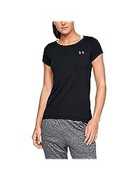 Under Armour 安德瑪 女式UA Heatgear Armour 運動T恤, 女士T恤 采用4向彈力面料制成,輕盈透氣跑步服裝