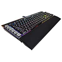 CORSAIR 海盗船 Gaming K95 RGB 铂金机械键盘 - USB直通和媒体控制 - Cherry樱桃 MX Speed银轴 - RGB LED背光 - 铝合金表面