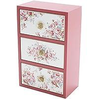 皇家阿登 玫瑰杂货 桌面柜子 3层 玛丽 18×10×27.5cm 70612