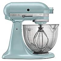 KitchenAid 凯膳怡 KSM155GBAZ 5夸脱/约4.73升 工匠设计系列带玻璃碗- 天青蓝 需配变压器