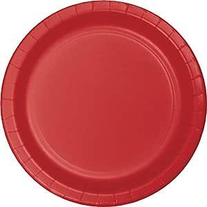 """Creative Converting 96 张庆祝纸质午餐盘 经典红色 7 """" 5585799"""
