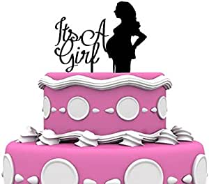 Forbes Favors It's a Girl 孕妇 Mom to Be Cake Topper Expecting Mom By Forbes Favors 黑色 43223-4192