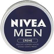 Nivea 妮维雅 男士面霜 4盒装 (4 x 150ml),适用于脸部,身体和手部的护肤霜,具有清新男性气息的滋养保湿霜