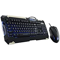 Thermaltake Tt eSPORTS USB Wired Commander Gaming Gear Keyboard and Mouse Combo Black - US Layout