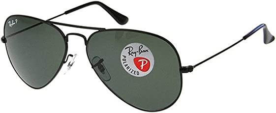 Ray-Ban 雷朋 飞行员系列偏光太阳眼镜RB3025 002/58 58黑框墨绿玻璃镜(进口)(亚马逊自营商品, 由供应商配送)
