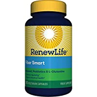 Renew Life 成人纤维补充剂,无麸质乳制品和大豆,敏感结肠适用,120粒植物胶囊