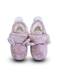LA PLAGE 女孩室内/室外防滑动物拖鞋长毛绒家居鞋皇冠