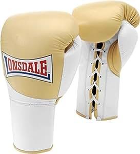 Lonsdale Ultimate MKLL Pro 常规抗击手套-黑色/白色,10 盎司