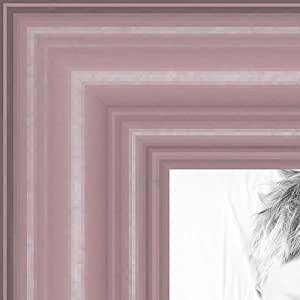 ArtToFrames 11x33 inch Pink Stain on Red Leaf Maple Wood Picture Frame, 2WOM0066-60823-YPNK-11x33