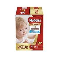 uggies Little Snugglers 婴儿纸尿裤 116 Count 4 号 116