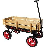 Flexible Flyer 全地形钢和木车超长手柄,黑色和红色